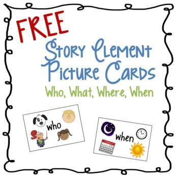 Story Element Picture Cards - Set of 4
