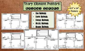 Story Elements Posters: Animal Themed