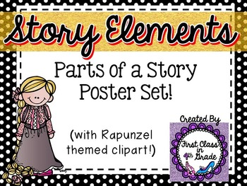 Story Element Posters (Black Polka Dot)