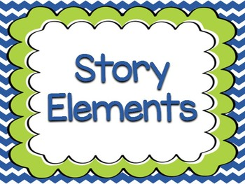 Story Element Posters! {Blue & Lime Green}