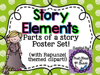 Story Element Posters (Colored Polka Dot)