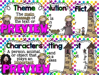 Story Element Posters (Polka Dot)