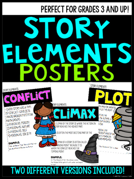 Story Element Posters- With Examples!