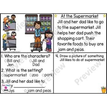 Kindergarten Story Element Worksheets-Set 2 by Mom Plus Teach is Neat