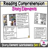 Kindergarten Story Element Worksheets-Set 2