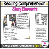 Kindergarten Story Element Worksheets-Set 2