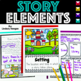 Story Elements Graphic Organizers, Anchor Charts, Songs, Mini-Reader and more!