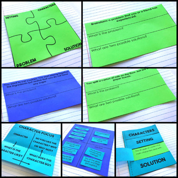 Story Elements Reading Interactive Notebook