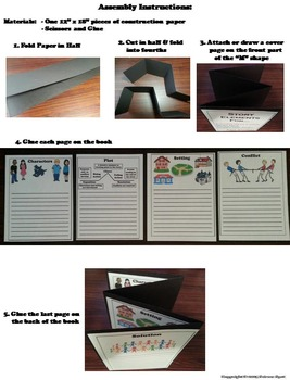 Story Elements Graphic Organizer/ Interactive Notebook Foldable Activity