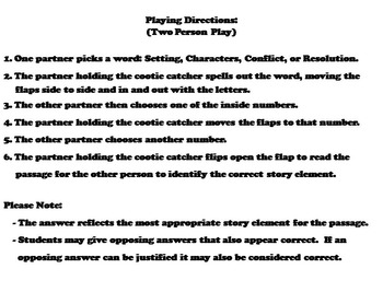 Story Elements Activity 3-5th Grade Reading Comprehension Passages and Questions