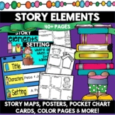 Story Elements Graphic Organizers Worksheets Posters