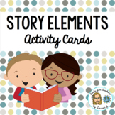 Fictional Story Elements Activity Cards: Creating a Book Bag