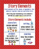 Story Elements Anchor Chart, Red Polka Dot