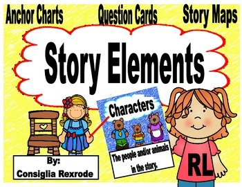 Story Elements (Anchor Charts, Question Cards, Story Maps)