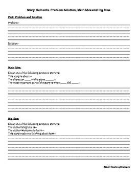 Story Elements: Assessment