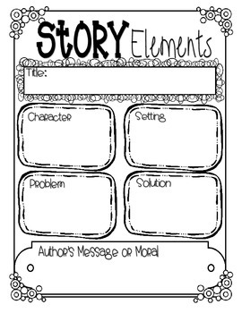 story elements assessment graphic organizer by studly peaches tpt. Black Bedroom Furniture Sets. Home Design Ideas