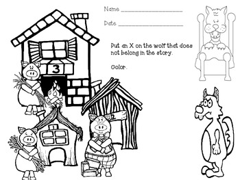 Story Elements Assessments for Main Idea, Character and Setting