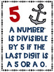 Divisibility Rules Banners in Color with Nautical Theme