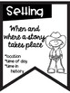 Story Elements Banners with Cowboy Theme ~Black & White~ For Easy Printing