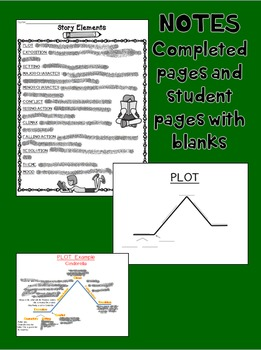 Story Elements Basics: Notes, Games, Quizzes