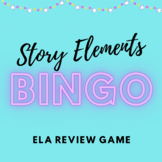 Story Elements Bingo - Story Elements Review Game for High School