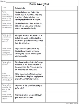 Story Elements Book Analysis (FREE)