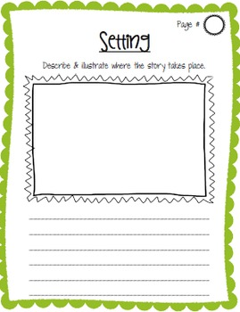 Story Elements Book Report