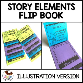 Story Elements Book Report - Illustration Version - Flip Book