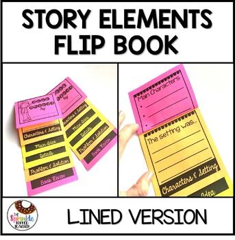 Story Elements Book Report - Written Version - Flip Book