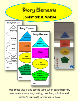 Story Elements Bookmark & Mobile