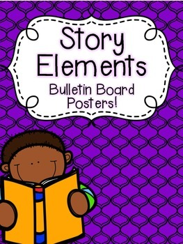Story Elements Bulletin Board Poster FREEBIE!