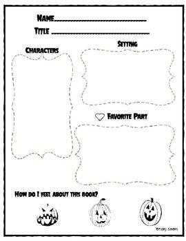 Story Elements Bundle-Pumpkin/October Theme