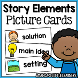 Story Elements Cards and Writing Paper