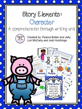 Story Elements: Character - A comprehension through writing unit - Rocky Raccoon
