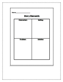Story Elements: Character, Setting, Problem and Solution