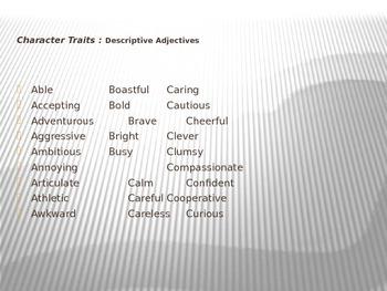 Story Elements: Character Traits