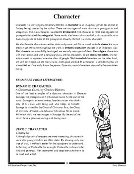 Story Elements: Character and Characterization