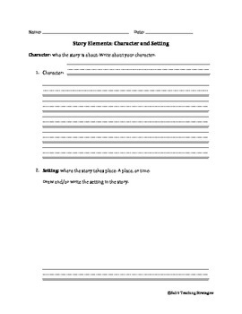 Story Elements: Character and Setting