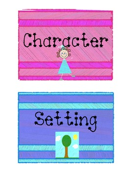 Story Elements: Character and Setting - Classify and Writing