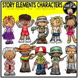 Story Elements Characters Clip Art Bundle {Educlips Clipart}