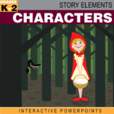 Story Elements: Characters–Interactive PowerPoint w/ Differentiated Worksheet