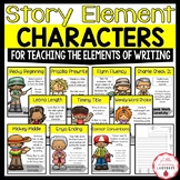 Story Elements Characters Posters & Materials {For Writing a Great Story}