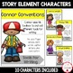 Story Elements Characters Posters & Materials {For Writing