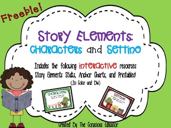 Story Elements- Characters and Setting Freebie!