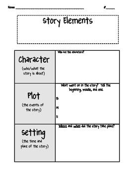Story Elements Chart