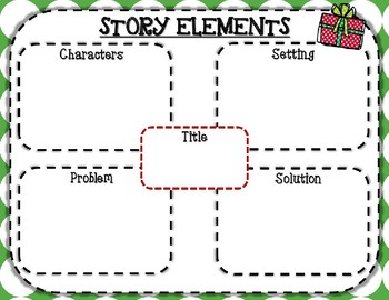 Story Elements / Christmas-Themed Graphic Organizers