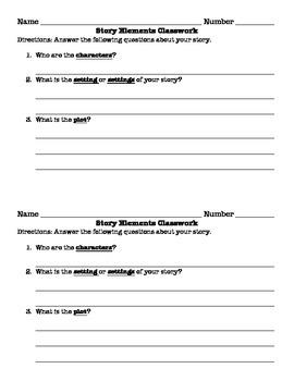 Story Elements Classwork