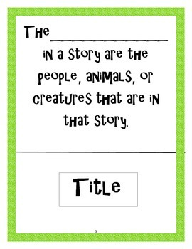 Story Elements Collaborative Activity Common Core ELACC1RL3 and ELACC2RL7