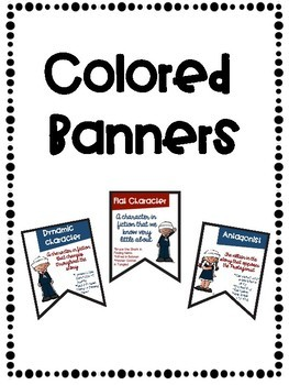Characters Colored and Black & White Banners Combo with Nautical Theme
