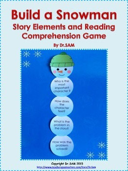 """Story Elements and Reading Comprehension Game """"Build a Snowman"""""""